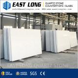 Brames blanches superbes de pierre de quartz pour les dessus conçus de vanité de quartz/carrelage avec la surface en pierre Polished