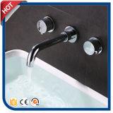Robinet duel de bassin de salle de bains de levier de robinet fixé au mur de bassin (HC2924)