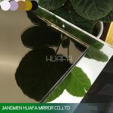 Espejo decorativo de cristal de Huafa de la hoja del espejo del espejo de bronce