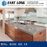 Vente en gros noire/grise pure foncée de pierre de quartz pour la cuisine/salle de bains
