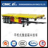 Cimc di Huajun 40FT della base 3axle rimorchio semi (trasportare il contenitore 2*20'& 1*20'di 1*40',)