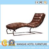 Modern Hotel Furniture Counter Chaise Salon en cuir pour extérieur