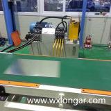 Línea de acero de aluminio de la máquina que raja