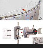 Rideau Rod fixé au mur en douche de salle de bains d'acier inoxydable
