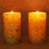 Estacas clássicas elegantes da vela do jardim do diodo emissor de luz/vela que cinzela/vela a pilhas do aniversário da cintilação