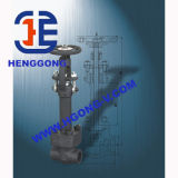 API/DIN/JIS 2500lb de alta pressão soldado forjou a válvula de porta