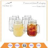 ロゴの印刷を用いる普及したメーソンジャー飲むガラス
