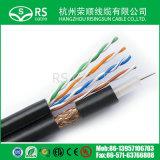Samengestelde LAN Kabel en de Coaxiale Zwarte 1000feet van de Kabel Rg59+Cat5e