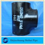 Té égal de l'ajustage de précision de pipe de l'acier du carbone de la norme ANSI B16.9 A420 Wpl6 Sch80