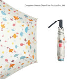 Gute Qualitätsschwarz-Metall-UVschutzsun-faltender Regenschirm