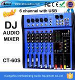 Misturador por atacado das canaletas do produto CT-60s 6 do DJ