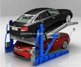 Poste deux inclinant le levage de stationnement pour la hauteur de plafond bas