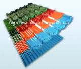 강철 집을%s 0.14/0.18mm 최신 담궈진 직류 전기를 통한 강철판 또는 직류 전기를 통한 PPGI 물결 모양 루핑 장