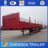 China 3 Flatbed Aanhangwagen van het Vervoer van de Lading van Assen met Zijgevel