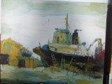 Peinture à l'huile de fleur (SFP09267)