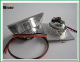 LED ajustable cuadrado mini Downlight 3W para la iluminación de la cabina