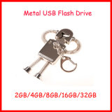 Movimentação do flash do USB do robô do disco do USB do USB Pendrive Thumbdrive do metal