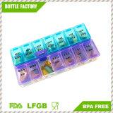 Beweglicher Pille-Medizin-Fall-Ablagekasten-Organisator-Pille-Organisator zweimal täglich 1 Pille-Organisator
