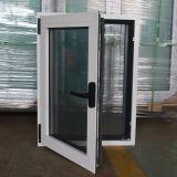Окно наклона & поворота алюминиевого профиля цвета высокого качества Kz025 белым покрынное порошком внутренное