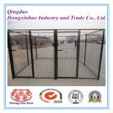 Pó da cor ou PVC preto que revestem a gaiola ao ar livre do cão