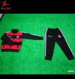 Insieme della tuta sportiva di addestramento di calcio degli uniformi scolastichi della gioventù dei bambini