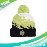ジャカード球(109)が付いているアクリルの編まれた冬の暖かい帽子の帽子