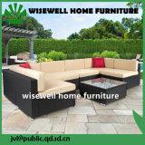 椅子(WXH-020)を食事する屋外のテラスの家具のブラウンの柳細工の金属