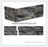 Marmo nero e grigio di legno cinese L pietra d'angolo della coltura