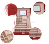 旅行装飾の革宝石箱