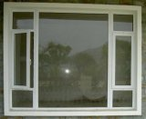 換気のルーバーWindows (PCW-033)が付いている60のシリーズPVC開き窓のWindows