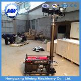 Torre de iluminación móvil Halide del metal con el generador diesel refrigerado por agua