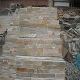 自然な錆ついたスレートの文化的な石の外部の装飾的な壁の石