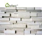Bianco/nero/pietra di marmo beige/dentellare della sporgenza, marmorizzare la pietra impilata, pietra di marmo della coltura