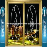 Puertas deslizantes de aluminio de la calidad casera excelente de la decoración de la marca de fábrica de China Top10