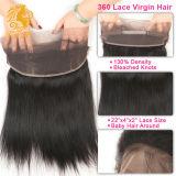 브라질 Virgin 머리 360 레이스 정면 마감 자연적인 색깔