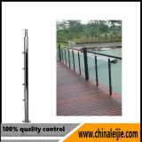 Balustrade/pêche à la traîne en verre de balcon d'acier inoxydable