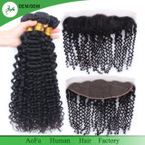 Raw Virgin Brazilian Hair Deep Wave Hair Frontal 13X4 Vente en gros