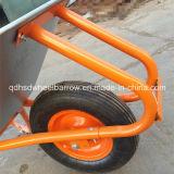 Carrinho de mão de roda galvanizado forte da bandeja de China ((WB6414D)