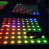 SD 카드 144PCS SMD5050 RGB 3in1 대화식 과민한 LED 댄스 플로워 빛