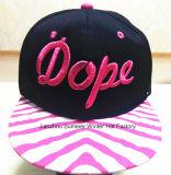 Chapeau fait sur commande fait sur commande de mode de broderie de chapeau de Hip-Hop