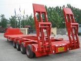3 árboles 80t Lowbed Cargo Truck Semi Trailer
