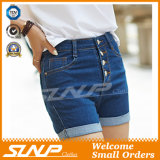 Calças de brim dos Shorts das teclas da sarja de Nimes das meninas mini
