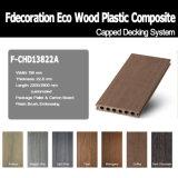 Decking capsulado madera plástica Textured de madera del compuesto de WPC
