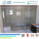 vidro Tempered endurecido Baixo-e baixo ferro da segurança de 12mm 1/2 desobstruído para a porta do chuveiro
