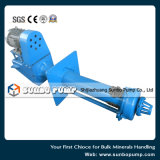 Pompes centrifuges verticales de boue rayées par métal de traitement minéral