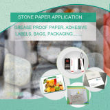 Papel de piedra mezclado del HDPE de la venta de la fábrica para escribir con MSDS