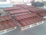 Mattonelle di tetto rivestite curve del metallo della pietra dell'isolamento termico
