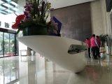 Feste Oberflächengaststätte-Empfang-Schreibtisch-acrylsauermöbel