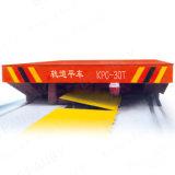 Carro de transferência da placa que funciona no trilho com fonte de alimentação personalizada