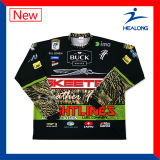 2017 Vêtements de pêche Healong UV-Protection Custom-made Digital Printed Fishing Shirts